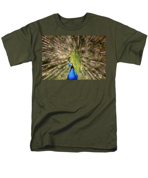 Abstract Peacock digital artwork T-Shirt by Georgeta Blanaru