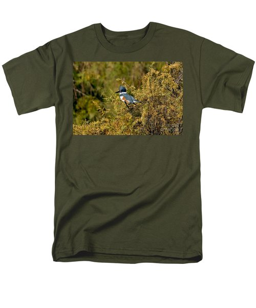 Belted Kingfisher Female Men's T-Shirt  (Regular Fit) by Anthony Mercieca