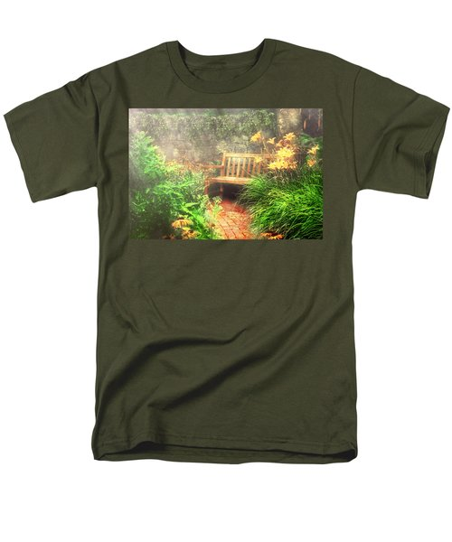 Bench - Privacy  T-Shirt by Mike Savad