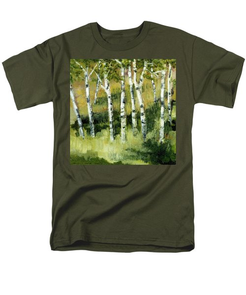 Birches on a Hill T-Shirt by Michelle Calkins