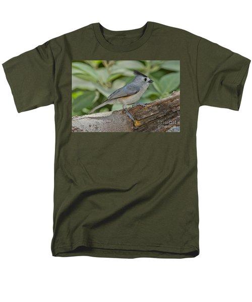 Black-crested Titmouse Men's T-Shirt  (Regular Fit) by Anthony Mercieca