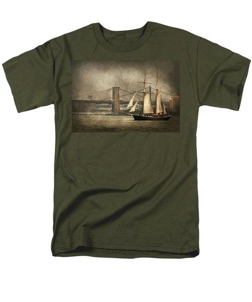 Boat - Sailing - Govenors Island NY - Clipper City T-Shirt by Mike Savad