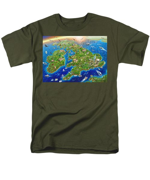 British Isles Men's T-Shirt  (Regular Fit) by Adrian Chesterman