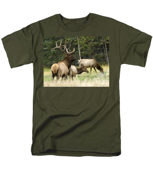 Bull Elk With His Harem T-Shirt by Bob Christopher