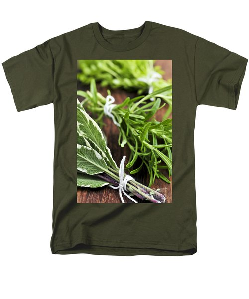 Bunches of fresh herbs T-Shirt by Elena Elisseeva