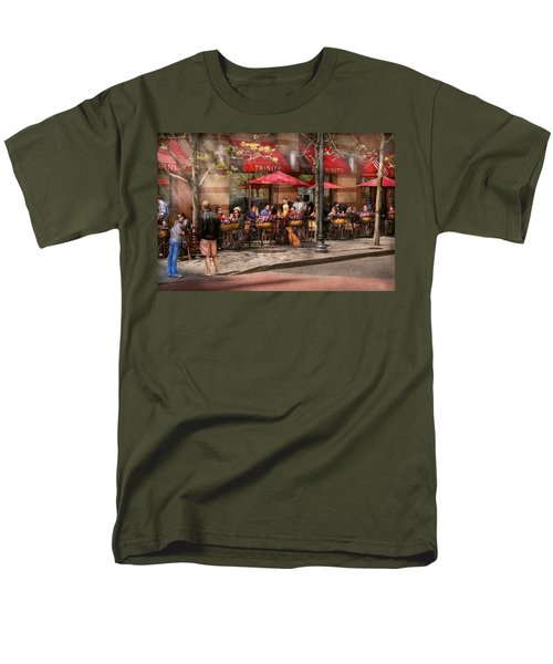 Cafe - Hoboken NJ - Cafe Trinity  T-Shirt by Mike Savad