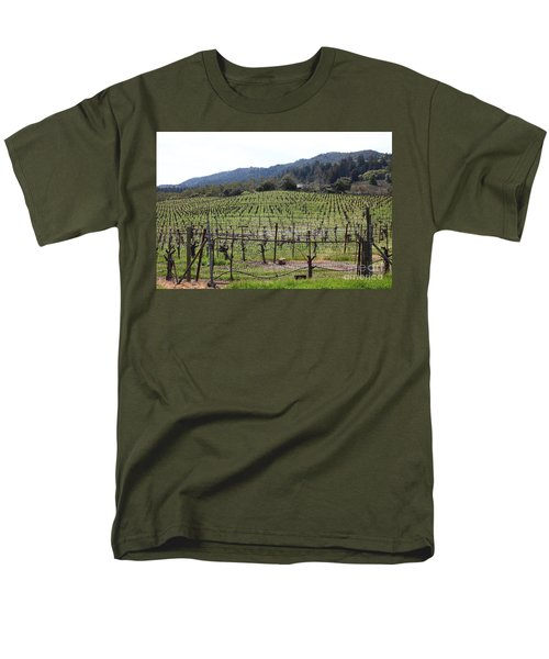 California Vineyards In Late Winter Just Before The Bloom 5D22088 T-Shirt by Wingsdomain Art and Photography