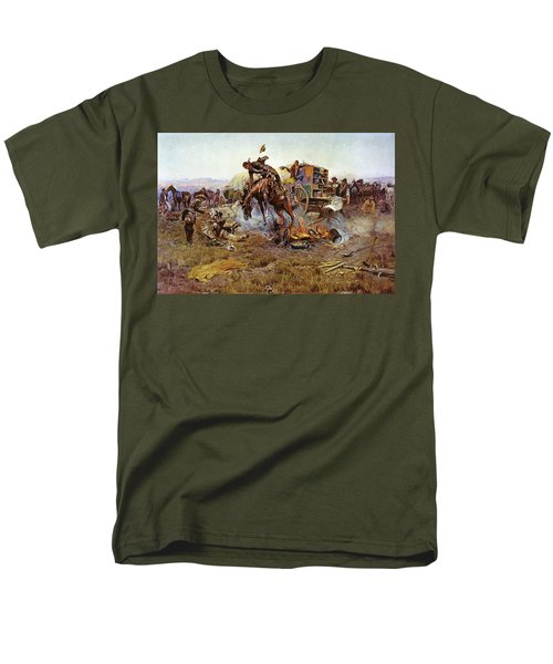 Camp Cooks Trouble T-Shirt by Charles Russell