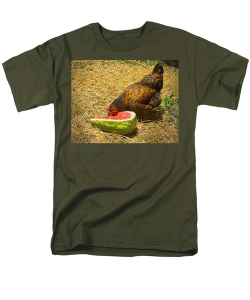 Chicken And Her Watermelon T-Shirt by Sandi OReilly