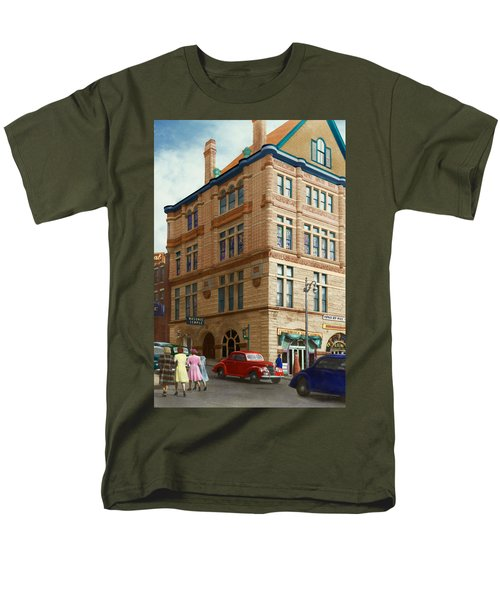 City - Chattanooga TN - 1943 - The Masonic Temple T-Shirt by Mike Savad