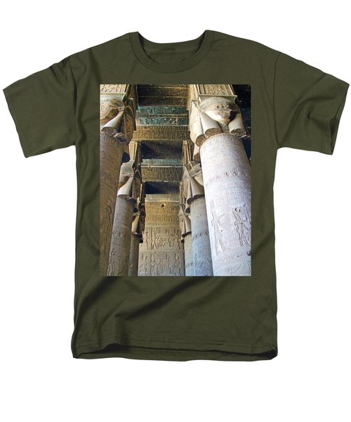 Columns in Temple of Hathor near Dendera in Qena-Egypt T-Shirt by Ruth Hager