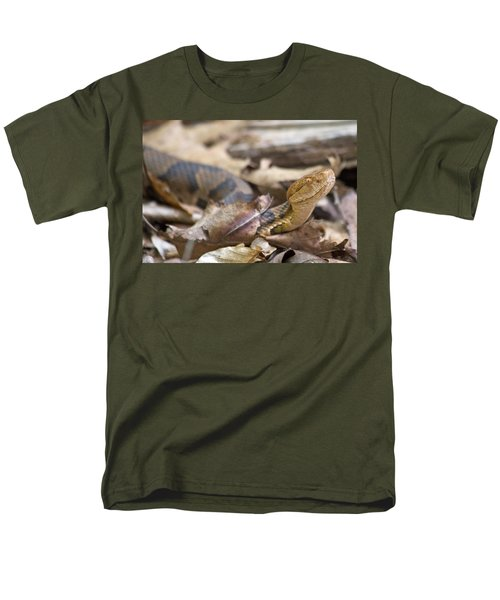 Copperhead In The Wild Men's T-Shirt  (Regular Fit) by Betsy Knapp