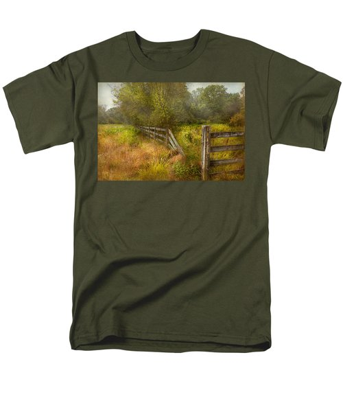 Country - Landscape - Lazy meadows T-Shirt by Mike Savad