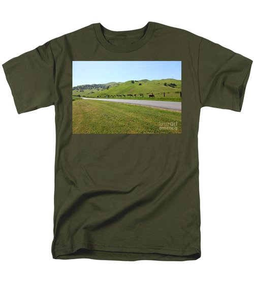 Cows Along The Rolling Hills Landscape of The Black Diamond Mines in Antioch California 5D22326 T-Shirt by Wingsdomain Art and Photography