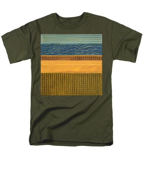 Earth Layers Abstract l T-Shirt by Michelle Calkins