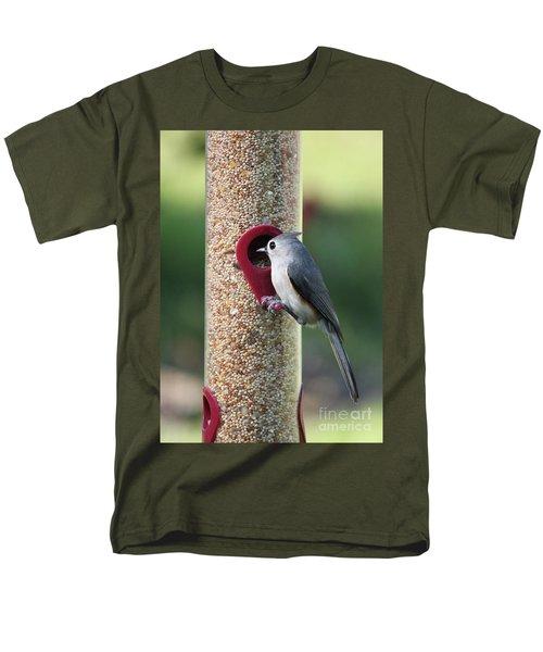Eastern Tufted Titmouse  Men's T-Shirt  (Regular Fit) by Carol Groenen