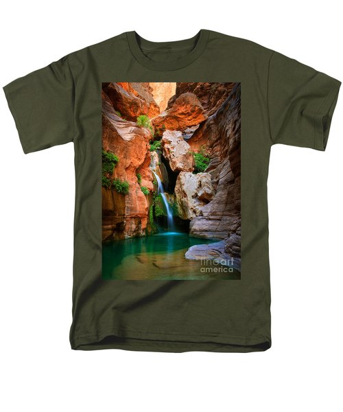 Elves Chasm Men's T-Shirt  (Regular Fit) by Inge Johnsson