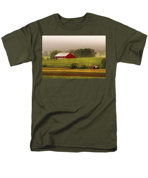 Farm - Farmer - Tilling the fields T-Shirt by Mike Savad