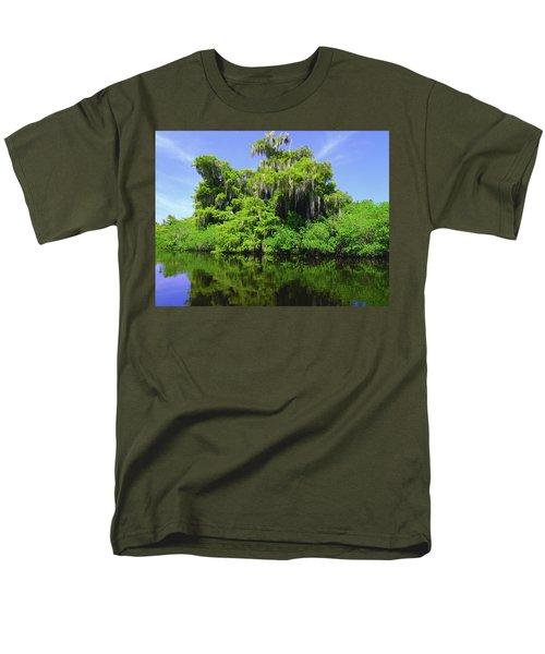 Florida Swamps Men's T-Shirt  (Regular Fit) by Carey Chen