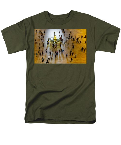 Grand Central Terminal Clock Birds Eye View  T-Shirt by Susan Candelario