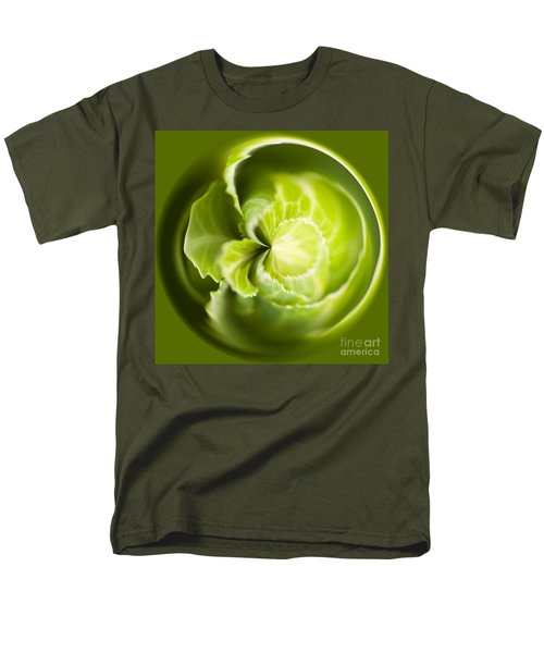 Green Cabbage Orb Men's T-Shirt  (Regular Fit) by Anne Gilbert