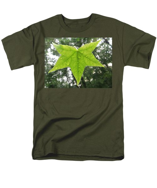 Green droplets T-Shirt by Sonali Gangane