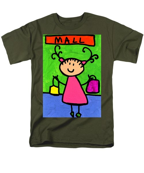 Happi Arti 5 - Shopaholic Little Girl Art T-Shirt by Sharon Cummings