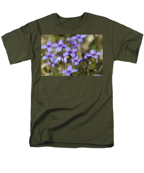 Happy Tiny Bluet Wildflowers T-Shirt by Kathy Clark