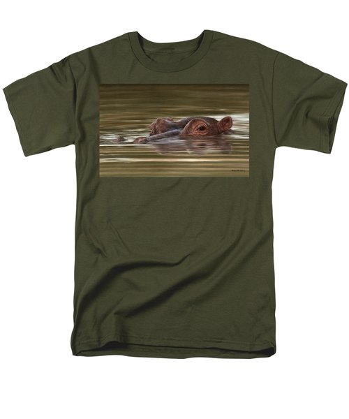 Hippo Painting Men's T-Shirt  (Regular Fit) by Rachel Stribbling