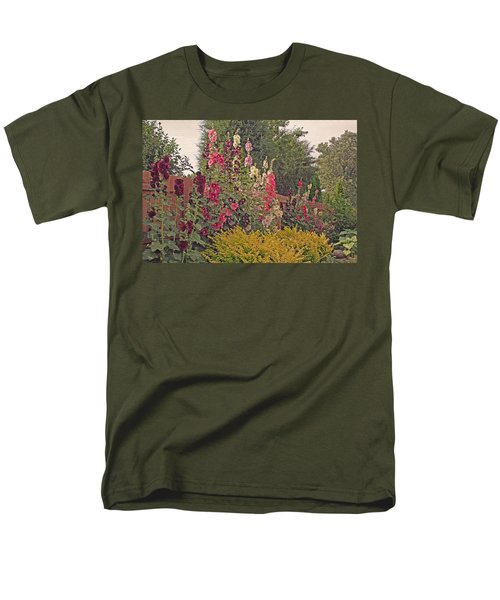 Hollyhocks T-Shirt by Kay Novy