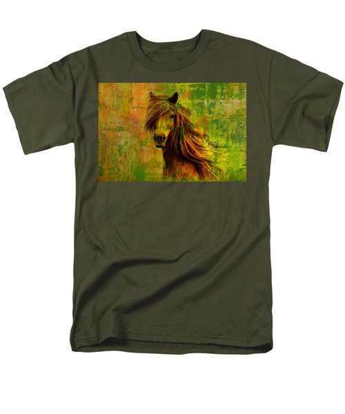 Horse paintings 001 T-Shirt by Catf