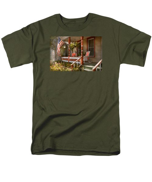 House - Porch - Traditional American T-Shirt by Mike Savad