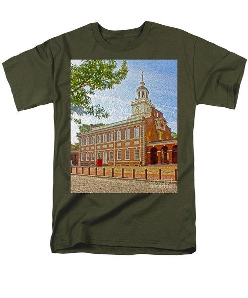 Independence Hall Philadelphia  T-Shirt by Tom Gari Gallery-Three-Photography