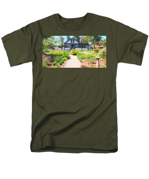 Jack London Countryside Cottage And Garden 5D24565 long T-Shirt by Wingsdomain Art and Photography
