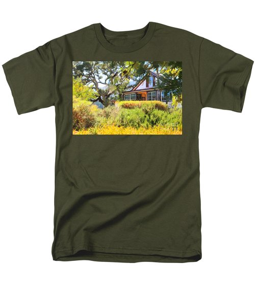 Jack London Countryside Cottage And Garden 5D24570 T-Shirt by Wingsdomain Art and Photography