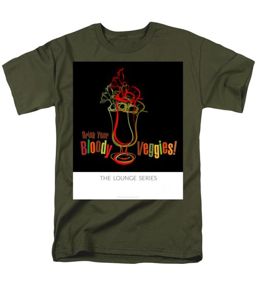Lounge Series - Drink Your Bloody Veggies Men's T-Shirt  (Regular Fit) by Mary Machare