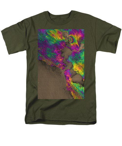 Men's T-Shirt  (Regular Fit) featuring the photograph Napa Valley Earthquake, 2014 by Science Source