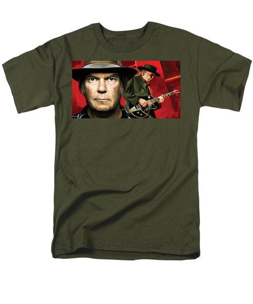 Neil Young Artwork Men's T-Shirt  (Regular Fit) by Sheraz A