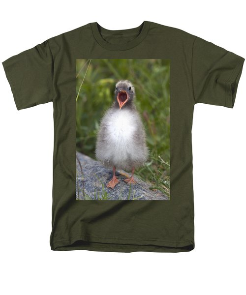 Newborn Arctic Tern Chick With Mouth T-Shirt by Doug Lindstrand