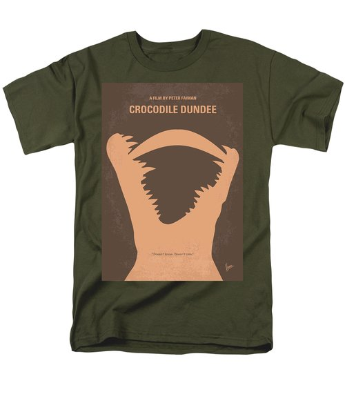No210 My Crocodile Dundee Minimal Movie Poster Men's T-Shirt  (Regular Fit) by Chungkong Art