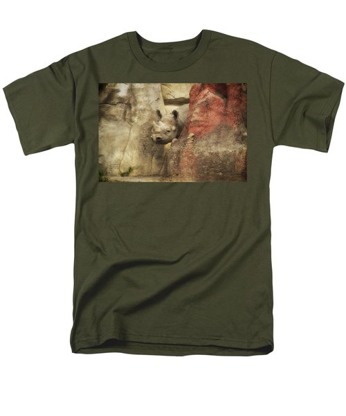 Peek A Boo Rhino Men's T-Shirt  (Regular Fit) by Thomas Woolworth