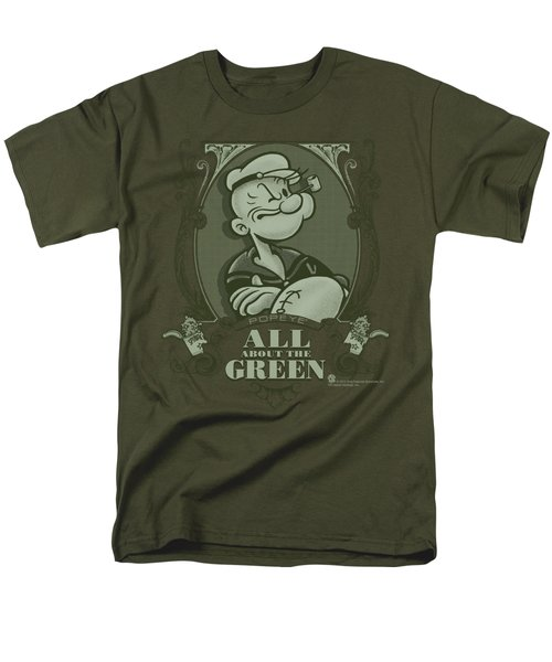 Popeye - All About The Green Men's T-Shirt  (Regular Fit) by Brand A