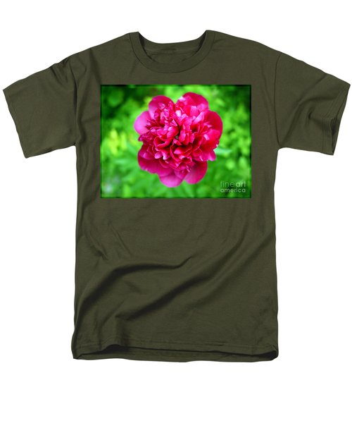 Red Peony Flower T-Shirt by Edward Fielding