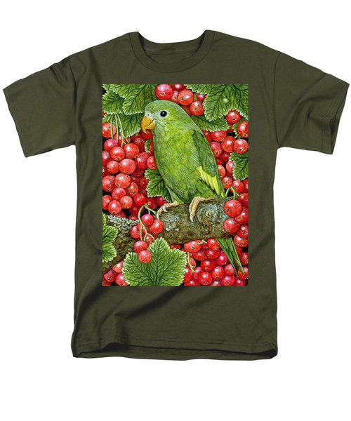 Redcurrant Parakeet Men's T-Shirt  (Regular Fit) by Ditz