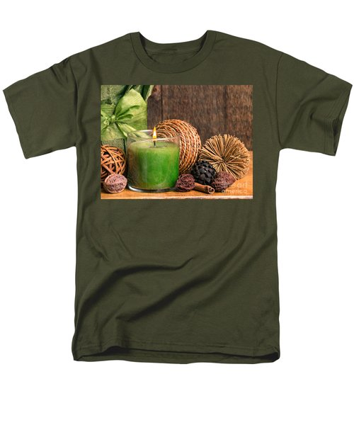 Relaxing Spa candle T-Shirt by Edward Fielding