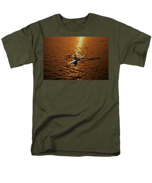 Rowing into the Sunset T-Shirt by Bill Cannon