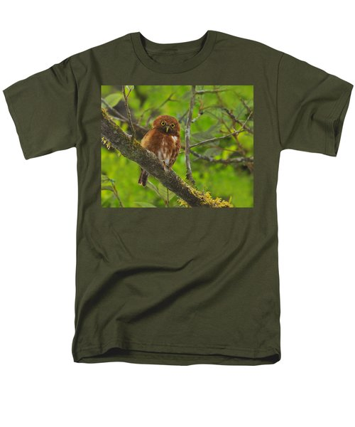Rufous Morph Costa Rican Pygmy-Owl T-Shirt by Tony Beck