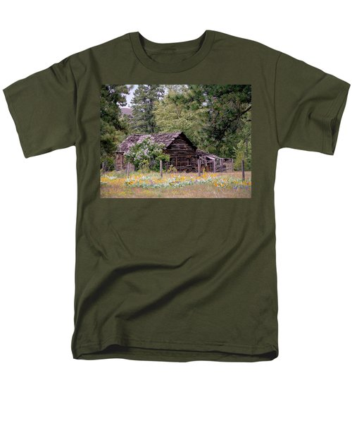 Rustic Cabin In The Mountains T-Shirt by Athena Mckinzie