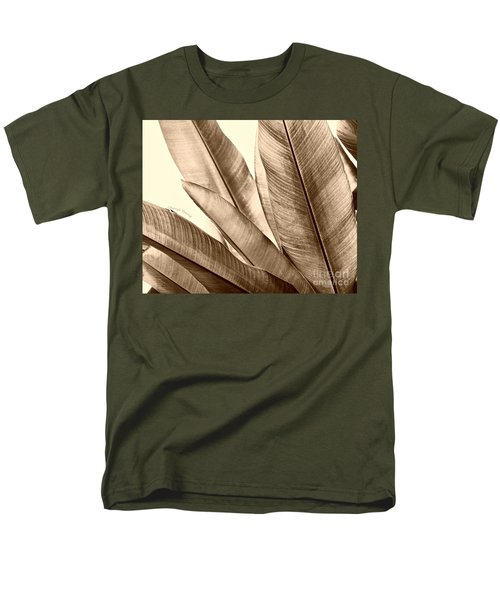 Sepia Leaves T-Shirt by Cheryl Young