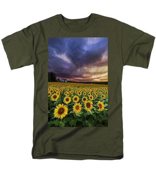 Stormy Sunrise T-Shirt by Debra and Dave Vanderlaan